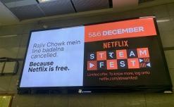 Netflix beams 'Stream Fest' on OOH canvas
