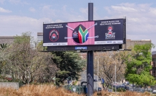 Shut-out for  a cause: Giant mask on South Africa billboard