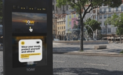 TOMI launches mask detection function and reactivates pedestrians' detection and counting feature