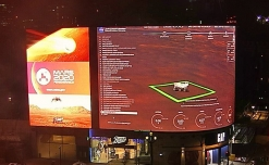 NASA Perseverance landing on Mars live-streamed on Piccadilly Lights