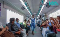 Kochi Metro salutes women staff with ramp walk in train