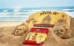 Tata Tea Premium's tribute to Odisha with sand art installation