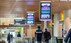 Live IPL updates on Mumbai airport DOOH screens create strong branding opportunities
