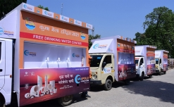 Twenty water vans run by Apollo Pipes at Kumbh Mela