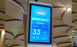 Times OOH powers Amstrad-branded live weather updates on Mumbai airport DOOH screens