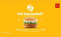 McDonald's India - North and East offers special deal to customers who get vaccinated