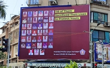 Mumbai Police pays homage to its Covid-19 Warriors; Bright Outdoor offers key sites