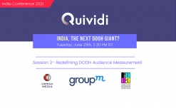 Quividi India Conference to feature a session on 'Redefining DOOH Audience Measurement'