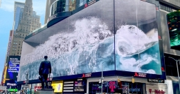 SILVERCAST to cast 1st 3D Digital Media Art WHALE at Times Square