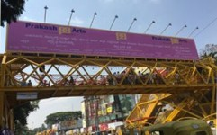 Prakash Arts unveils a Foot-Over-Bridge on Adugodi Road, Bangalore