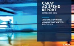 Carat's Ad Spend Report maintains +3.5% YoY growth for OOH in 2016 globally