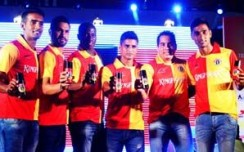 Kingfisher East Bengal Football Team unveiled at South City Mall, Kolkata