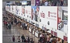 Via.com flies via OOH at BIAL