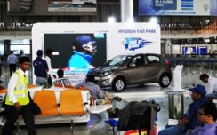 Hyundai brings cricket fever at Hyderabad Airport