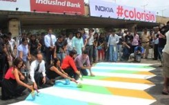 Nokia's colour splash to raise awareness in Mumbai