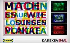 IKEA's space -saving message with an RGB billboard