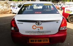 Commonfloor.com extends its TVC message through Cab-Advertising