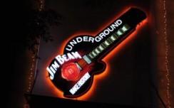 Jim Beam's guitar grabs eyeballs at Underground night club