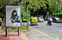Road safety campaign on JCDecaux's Citylights media