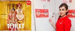Air Asia partners promotion of 'Toilet - Ek Prem Katha'