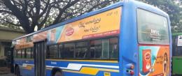 Wagh Bakri boards BMTC buses