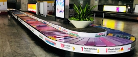 Kansai Nerolac turns conveyer belt into colourful moving shade card