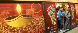 Delhi Metro Line 2 resplendent in Diwali colours