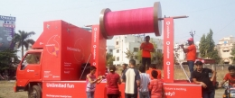 Vodafone paints the town red during Uttarayan