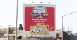 Freedom Oil slips into the OOH fast line with JarCar offer