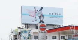 Titan presents its 'wedding gift' on large billboards