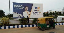 Multi format OOH presence for Cars24
