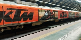 KTM Bikes accelerates train wrap branding