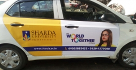 HP and Sharada University takes assistance from cab advertising