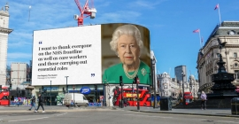 The Queen's message: Straight on Outdoors