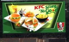 KFC's veggie spread on OOH