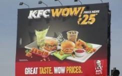 KFC spreads its WOW menu outdoors