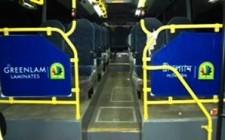 Greenlam Laminates boards Volvo buses in Kolkata