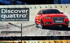 Audi Quattro grabs attention through OOH