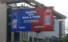 Harpic makes an OOH splash with'twin' offerings