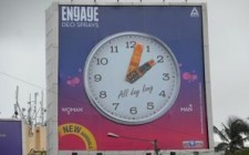Madison OOH creates an interesting clock for Engage Deodorants