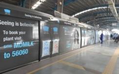 Mother Dairy claims purity through Delhi Metro