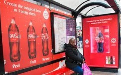 Coca Cola's festive bow brings cheer around UK