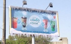 Café Coffee Day brings winter through billboards this summer