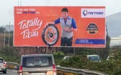 Streettalk executes TVS Tyre's celeb OOH campaign