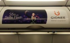 Gionee boards 10 Go Air aircraft with eye-catching overhead branding