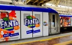 Fanta leaves an orange splash on Chennai Metro