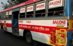 Saloni Mustard criss-crosses West Bengal with bus branding