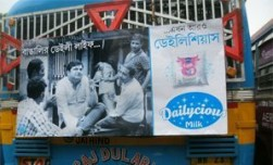 Dailycious Milk flows out on to the OOH streets of Kolkata