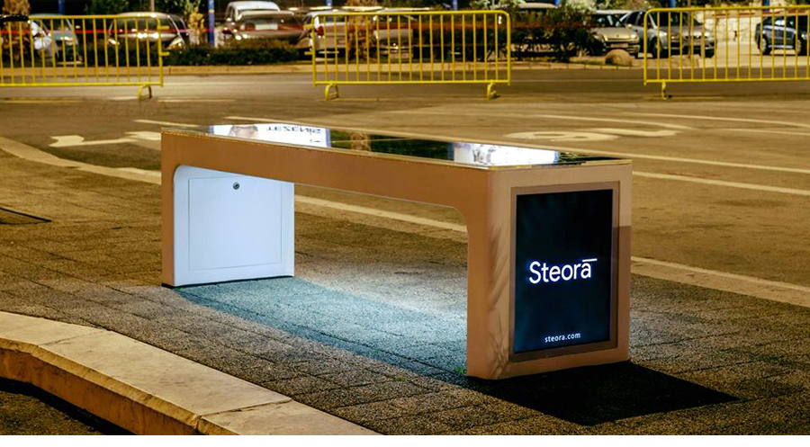 steora�s smart digital street bench adds new dimension to