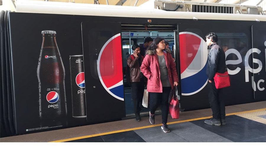 Pepsi Black makes a big splash on Rapid Metro